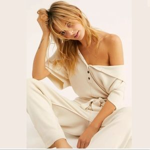 FREE PEOPLE REALLY LOVELY JUMPER SWEATER JUMPSUIT